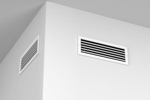 Air vents for heating or cooling on the wall