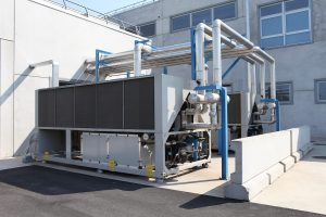 huge air conditioning unit, central heating and cooling system contro